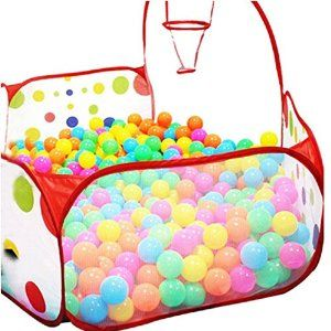 Amazon.com: TIFENNY Kids baby Hexagon Polka Dot Ball Play Pool Tent Carry Tote +50 Balls toys: Toys & Games