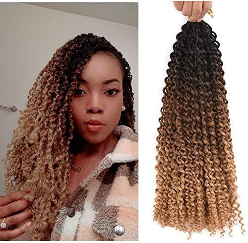 Buy AliRobam18inch Water Wave Passion Twist Crochet Braids Braiding Hair Weave 6packs 22Roots