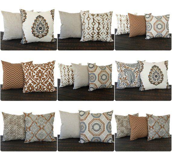 Pillow Throw Pillow Pillow Cover Cushion Decorative Pillow Holly Caramel Brown Cream Geometric Brown Couch Decor Brown Couch Throw Pillows Couch Decor