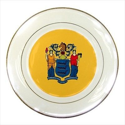 New Jersey Porcelain Plate w/ Display Stand - American Home States (USA)  sc 1 st  Pinterest & New Jersey Porcelain Plate w/ Display Stand - American Home States ...