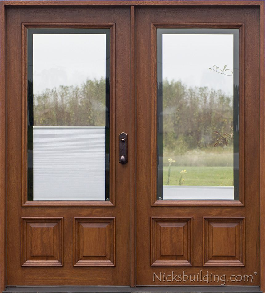 Beautiful Full Glass Exterior Entry Door
