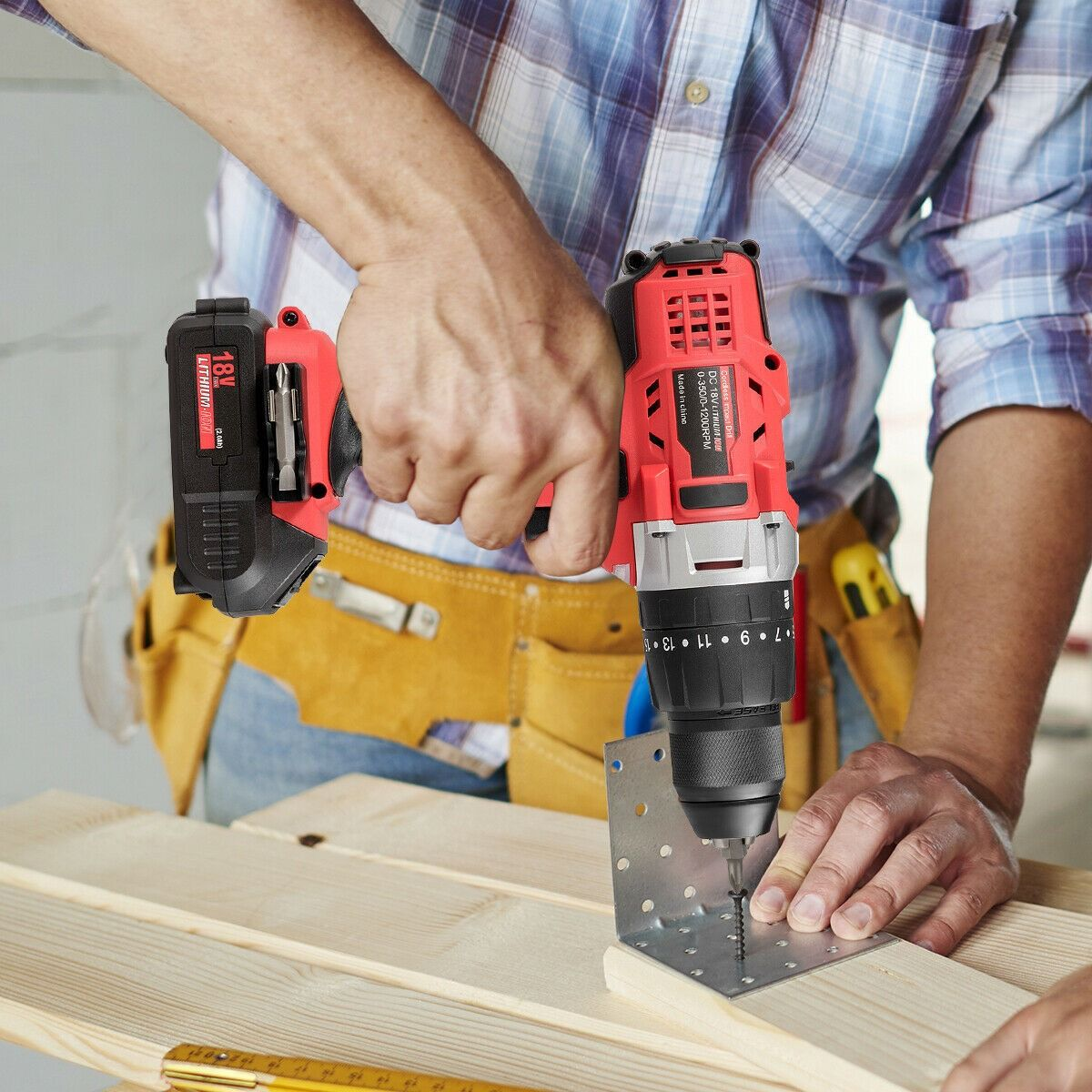 18v Cordless Drill Driver Impact Tool Kit With Led Light 18v Cordless Drill Drill Driver Cordless Drill