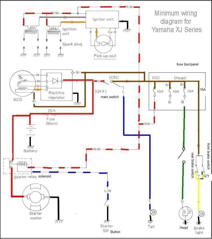 81 Yamaha Xj 650 Wiring Help Needed Motorcycle Wiring Diagram Yamaha