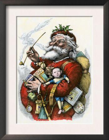 Merry Old Santa Claus, 1880s. Merry Old Santa Claus, 1880s - Framed Art Print. Price: $49.99