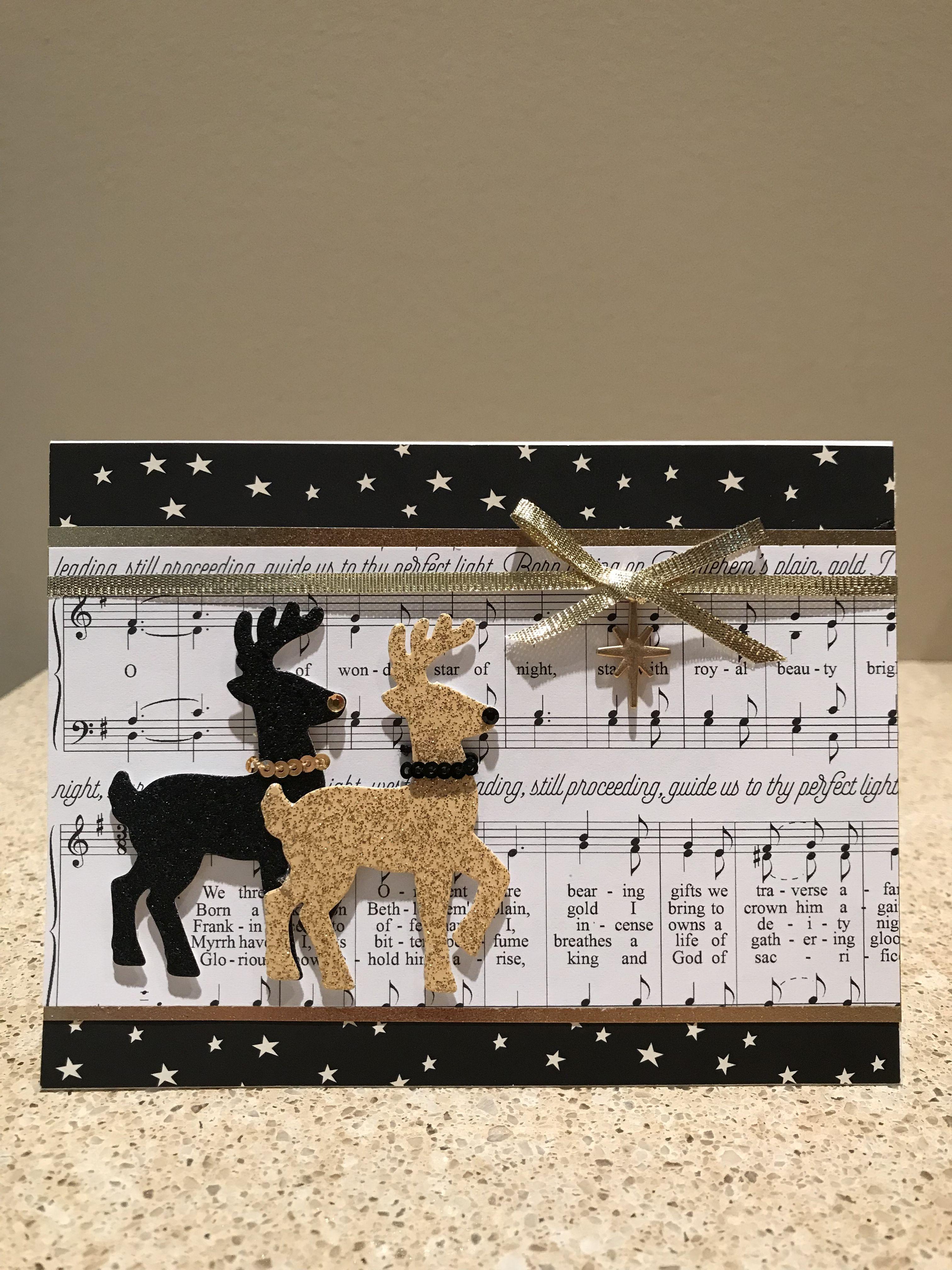 Christmas card made using Stampin Up Santa s Sleigh stamp set and