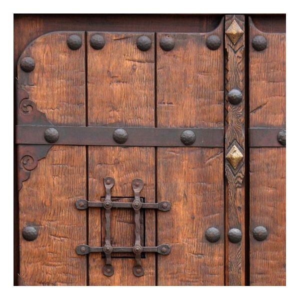 Resultado de imagen de porton rustico de madera forja - Herrajes rusticos para puertas ...