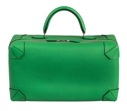 SPRING GREENS Maxibox bag in Evercolor calfskin