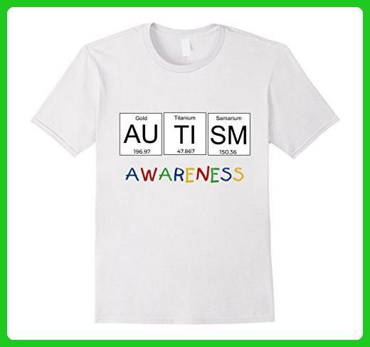 Mens Autism Awareness T-Shirt Periodic Table Science Tee Shirt 3XL - new periodic table autistic