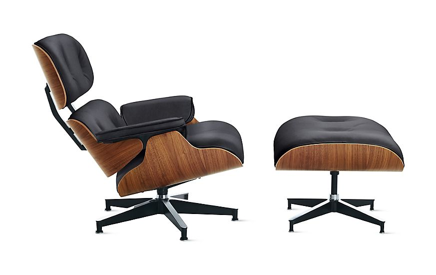 Herman Miller Eames Lounge Chair And Ottoman Black Standard At