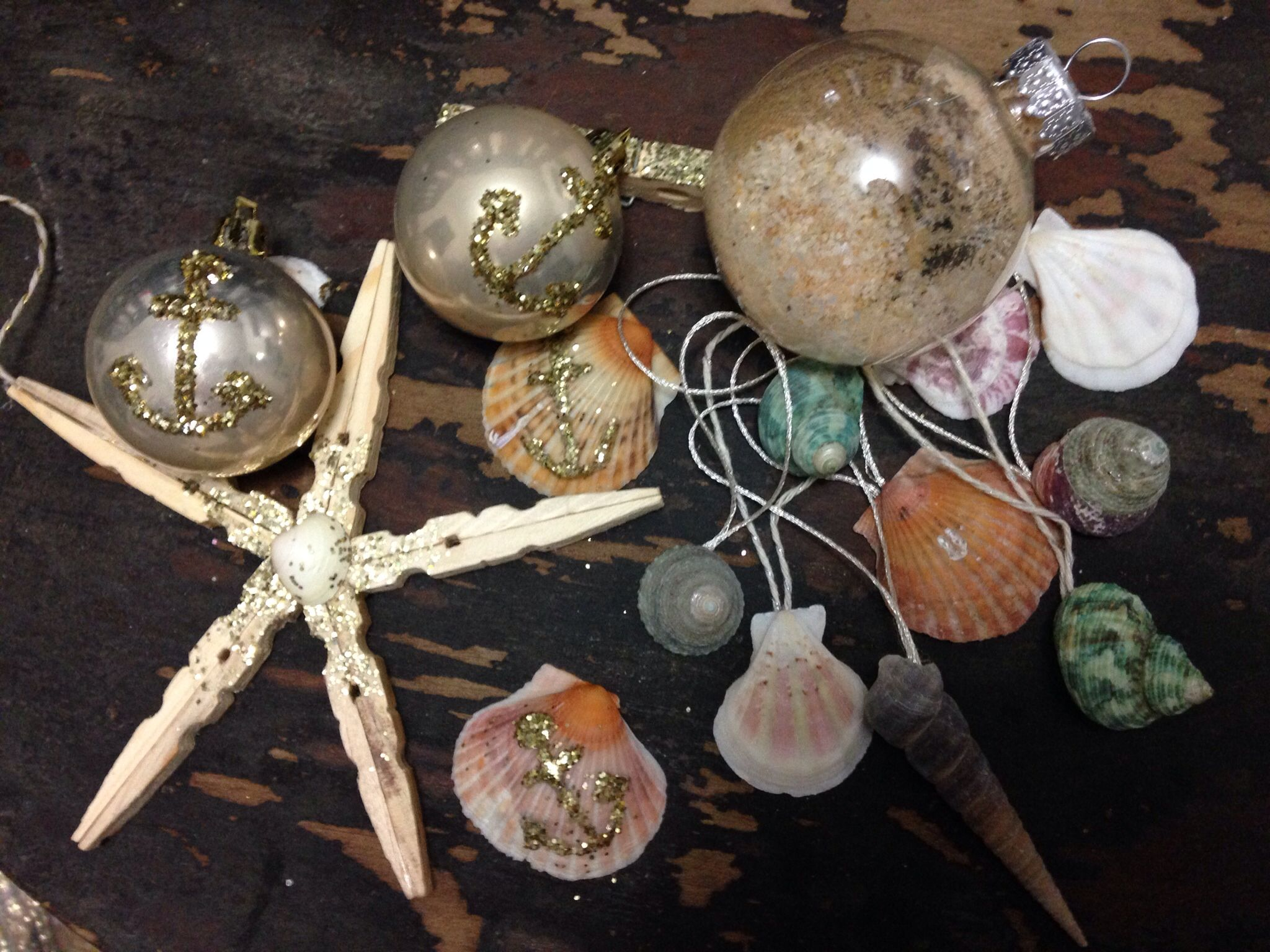 Christmas by the seashore ornaments