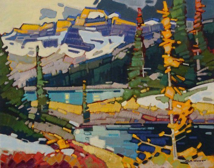 alpine warmth cameron lake CAMERON BIRD Beautiful - lake painting