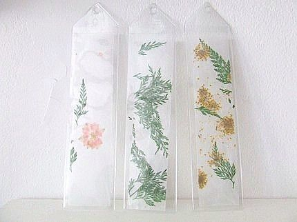 pressed flower bookmarks from wickedpen etsy