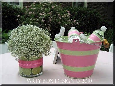 DIY Lime and Babies Breath Floral