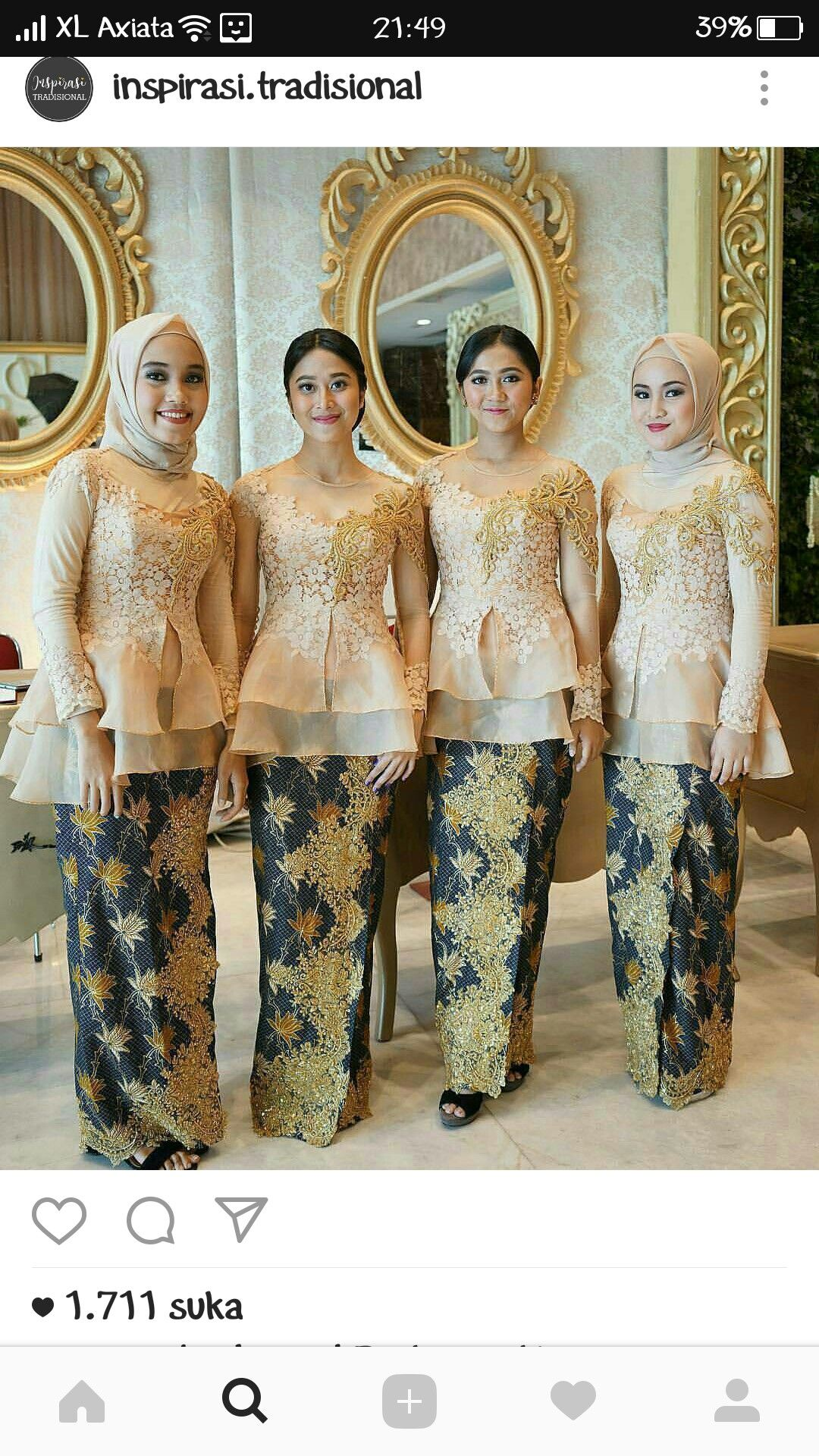 Pin by rahmi latamu on kebaya Pinterest