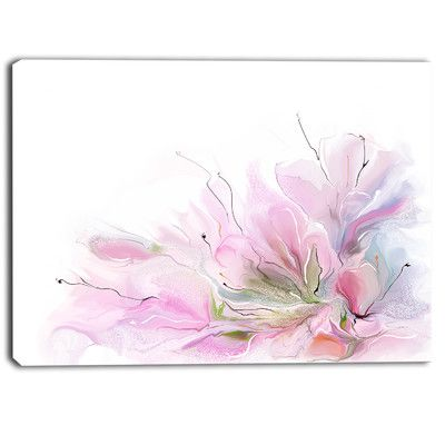 Designart Lovely Flowers Contemporary Painting Print On Wrapped Canvas Size Arte En Lienzo Pintura Acuarela Pinturas
