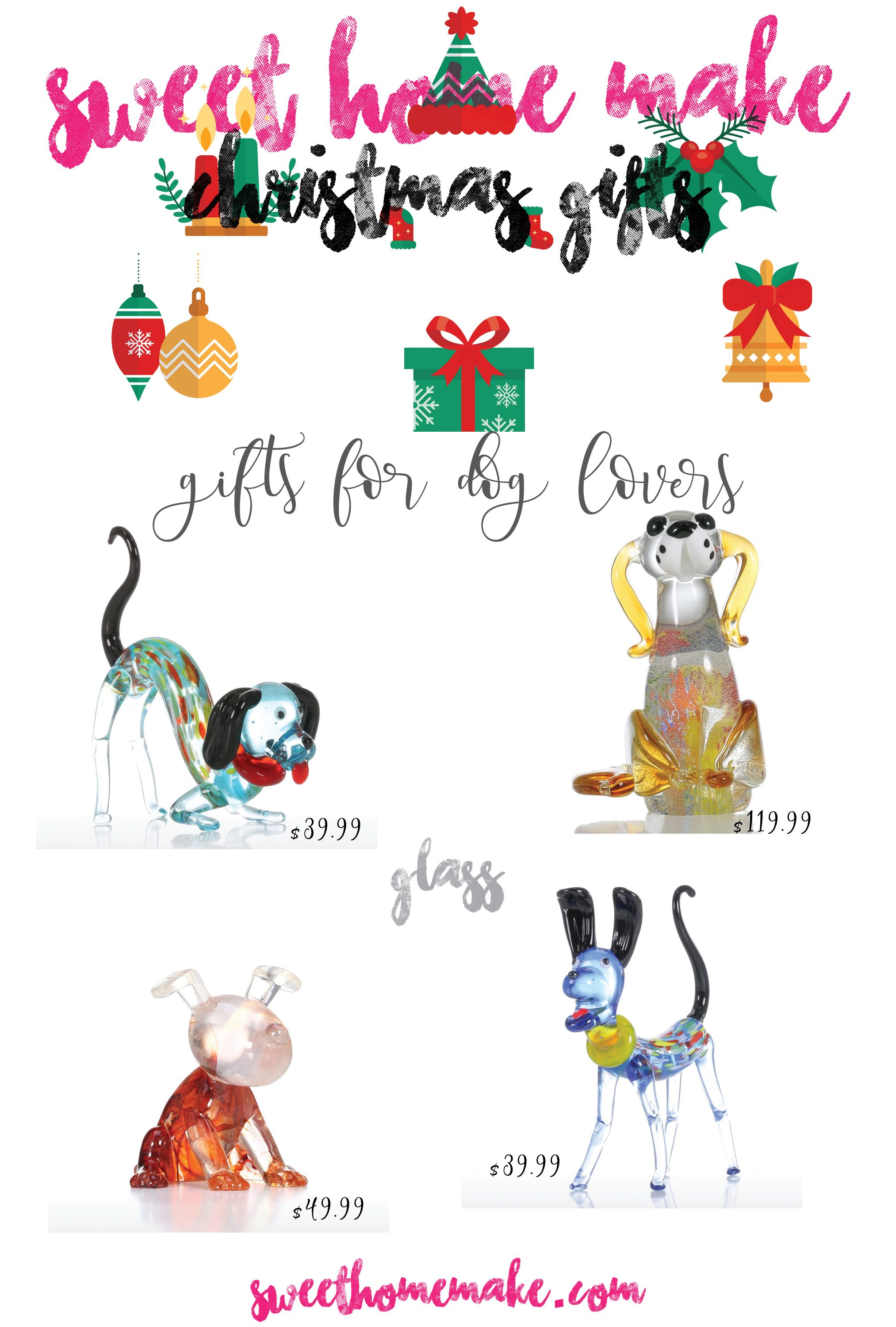 Adorable Glass Puppies for Christmas Gifts for Dog Lovers
