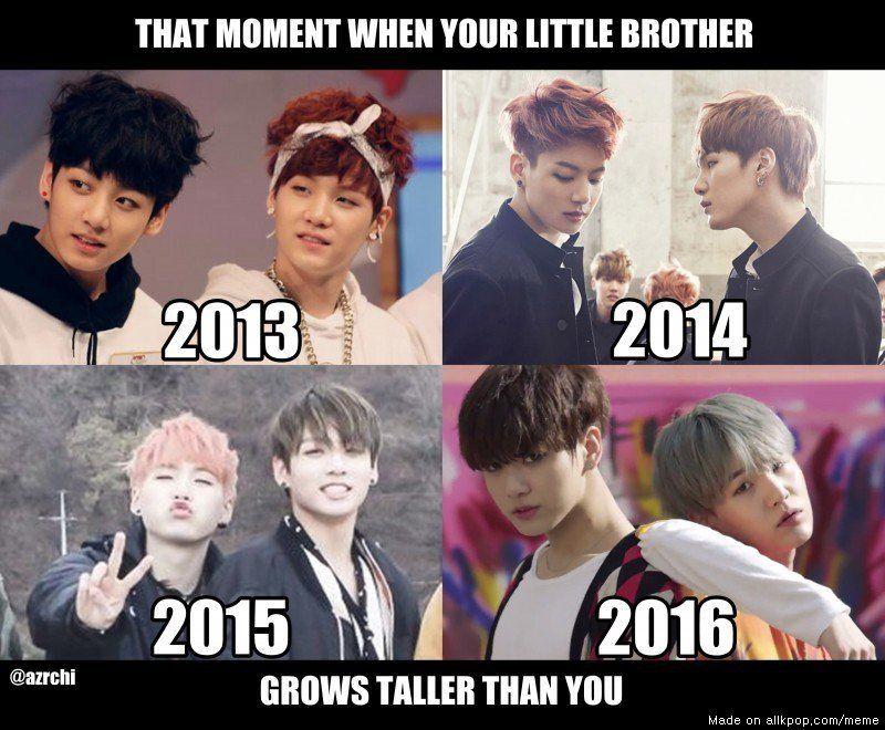 Kookie Growing Faster Than I Can Blink Lmao Allkpop Meme Center Bts Memes Hilarious How To Grow Taller Bts Memes