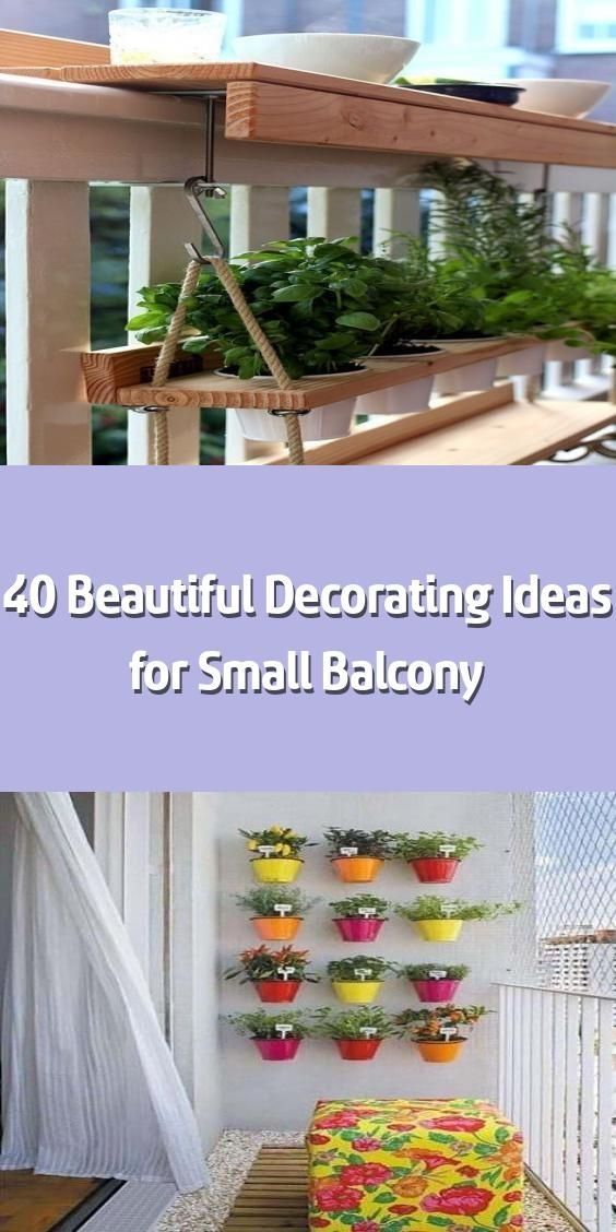 40 Beautiful Decorating Ideas for Small Balcony –    You might want to have a na… Balcony
