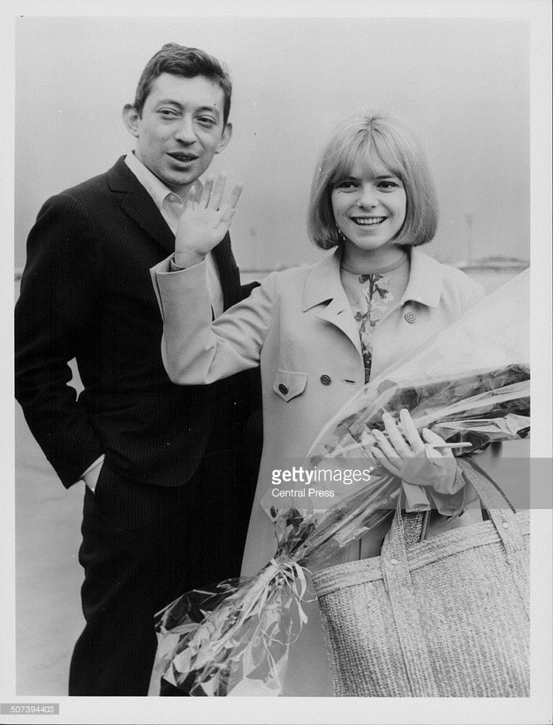 Serge Gainsbourg and France Gall, winners of the 1965 Eurovision Song  Contest.   France gall, Serge gainsbourg, France