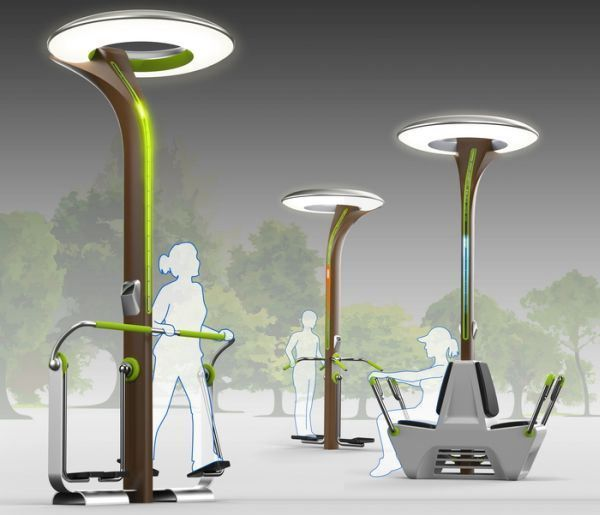 9 Inspiring Street Light Ideas Powered By The Sun Wind And Humans Designbuzz Lighting Concepts Street Lamp Smart Lighting