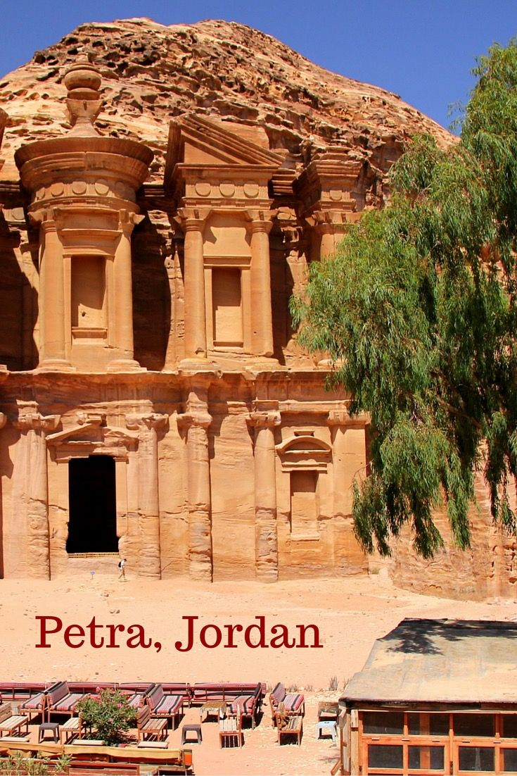 Petra in Jordan is an ancient lost city of stone. Built by the Nabateans, a nomadic tribe, today it's one of the wonders of the world. It's amazing, full of beautiful stone facades... I have spent there 2 days and I recommend it to everyone!