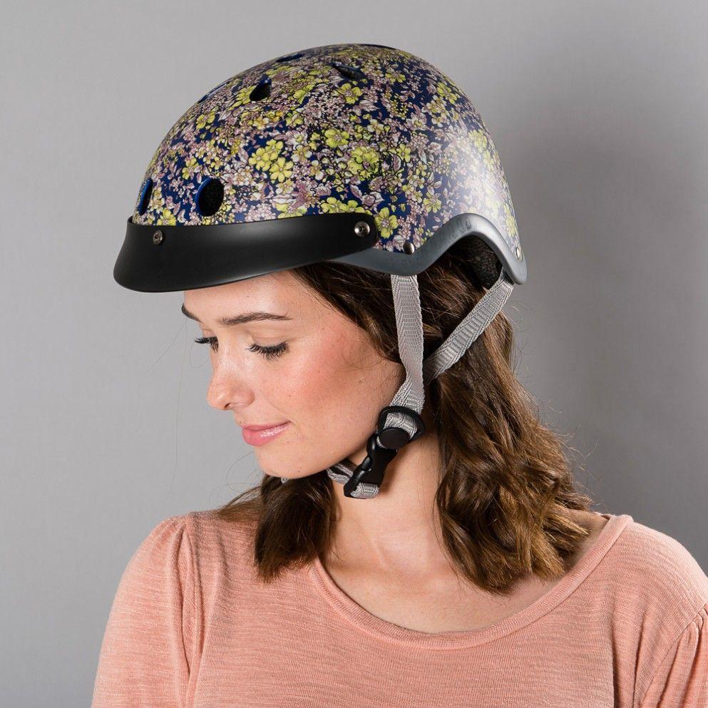 Sawako Furuno Ladies Bike Helmet Floral Midnight Cyclechic
