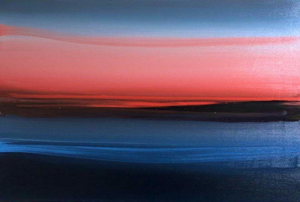 "Camilla West ""Sunset 23/8"" 40x60 cm Oil on canvas"