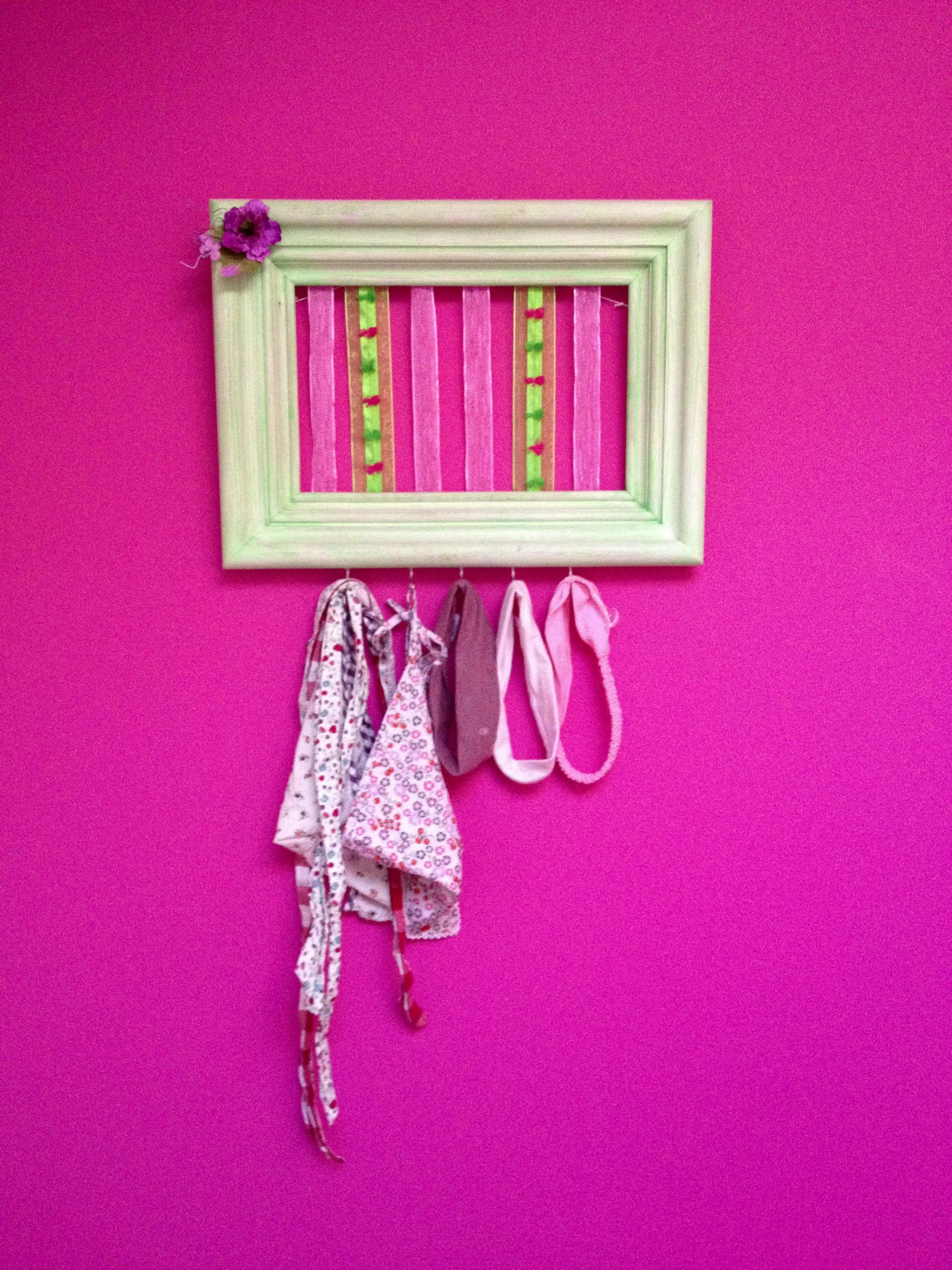Tableau déco porte bandeaux pour la chambre de ma Poupinette