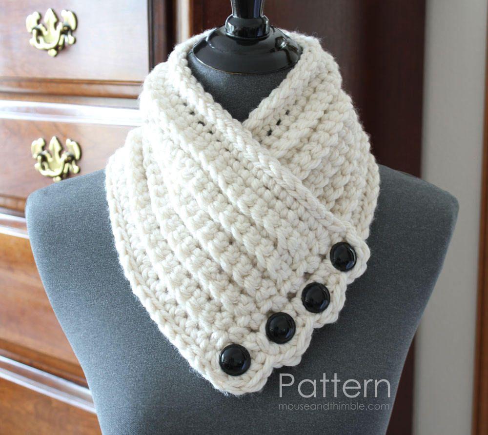Crochet Scarf PATTERN / Tuscany Neck Warmer - Photo Tutorial / PDF ...