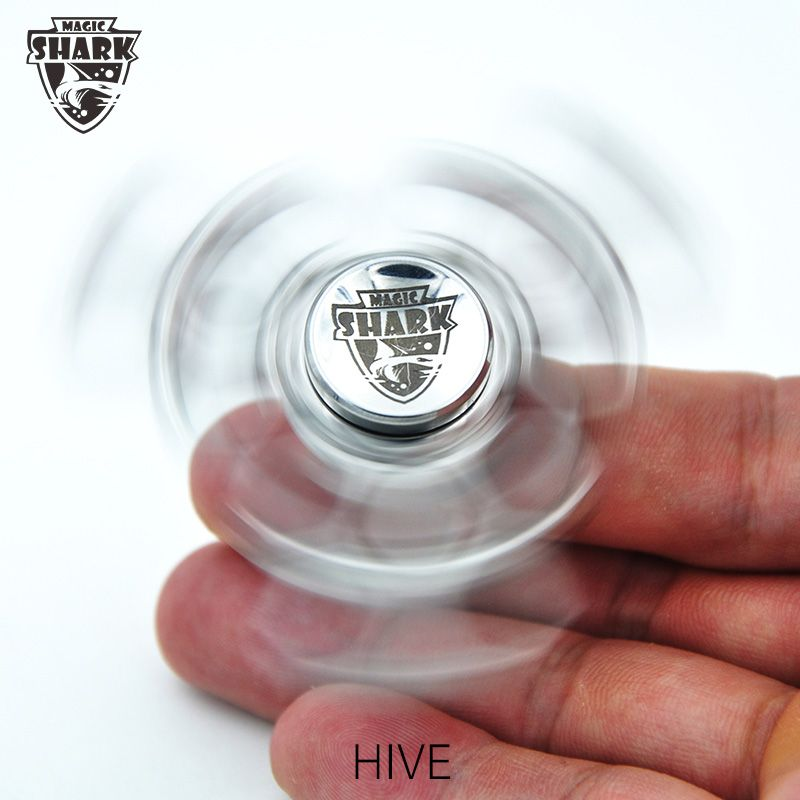 Magic Shark Hive Fid Spinners Pure Metal Hand Spinner Stainless