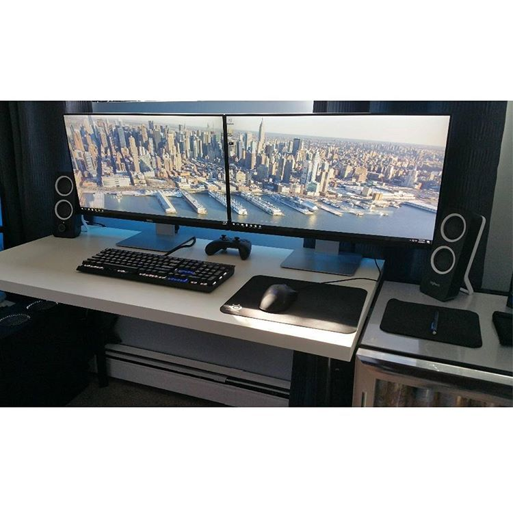 Awesome Computer Desk Dual Monitor
