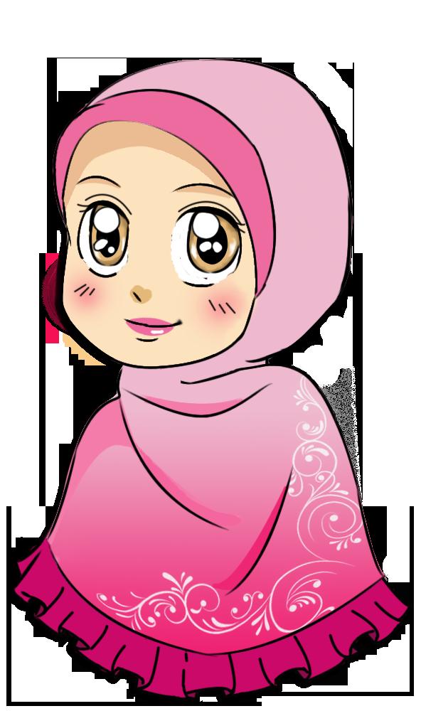 gambar stiker kartun lucu  muslim cartoon sketches doodle girl felt applique