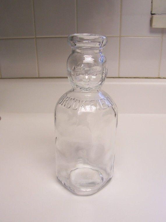 Brookfield Baby Top Milk Bottle Glass Milk Bottle With By Msink Old Milk Bottles Milk Bottle Bottle