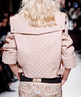 Balmain pink biker jacket