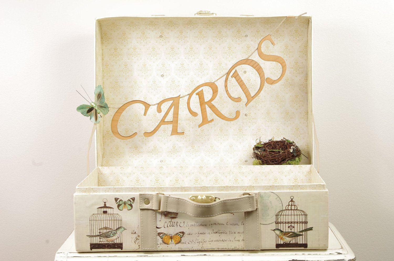 Large Love Birds Wedding Card Box Wedding Card Trunk With Romantic