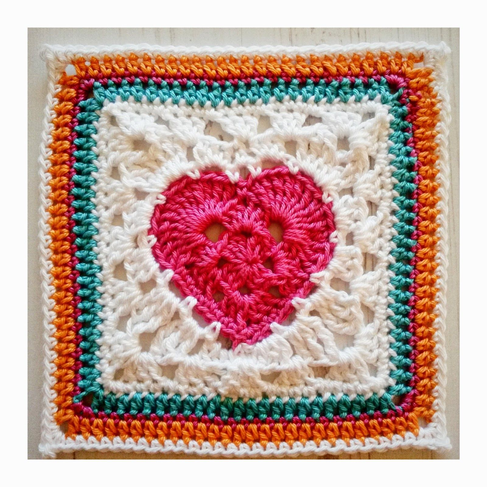 Granny Heart Square - Free crochet granny square pattern from ...