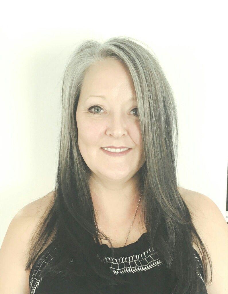 Reverse Grey Ombre Grey Ombre Hair Blending Gray Hair Reverse Ombre Hair