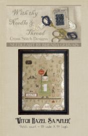Witch Hazel Sampler-witch hazel sampler, cross stitch, halloween, brenda gervais, with thy needle & Thread