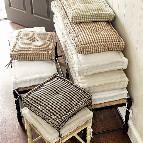 Farmhouse Stool Cushions Ballard Designs In 2020 French Mattress Cushion Mattress Cushion Window Seat Cushions