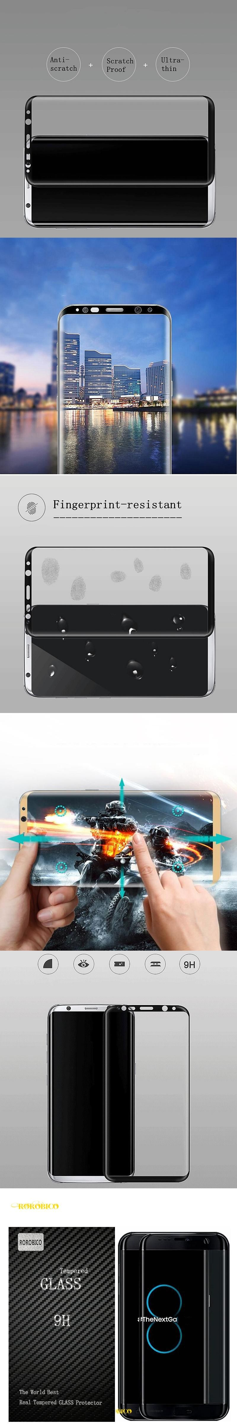 3D Curved For Samsung Galaxy S8 Plus G955 G9550 S8 Edge Full coverage Screen Protector