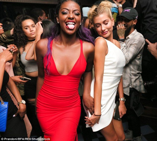 Hailey Baldwin stopped traffic all on her own on Thursday as she strolled to Up & Down nightclub in New York City where 21st birthday celebrations for her friend Justine Skye were continuing.