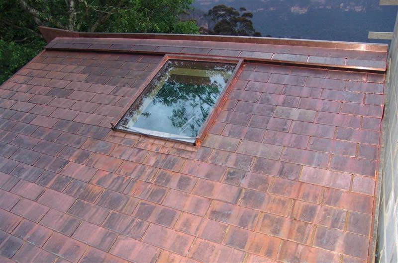 Copper Roof Shingles Zinc cladding, Metal roof, Shingling
