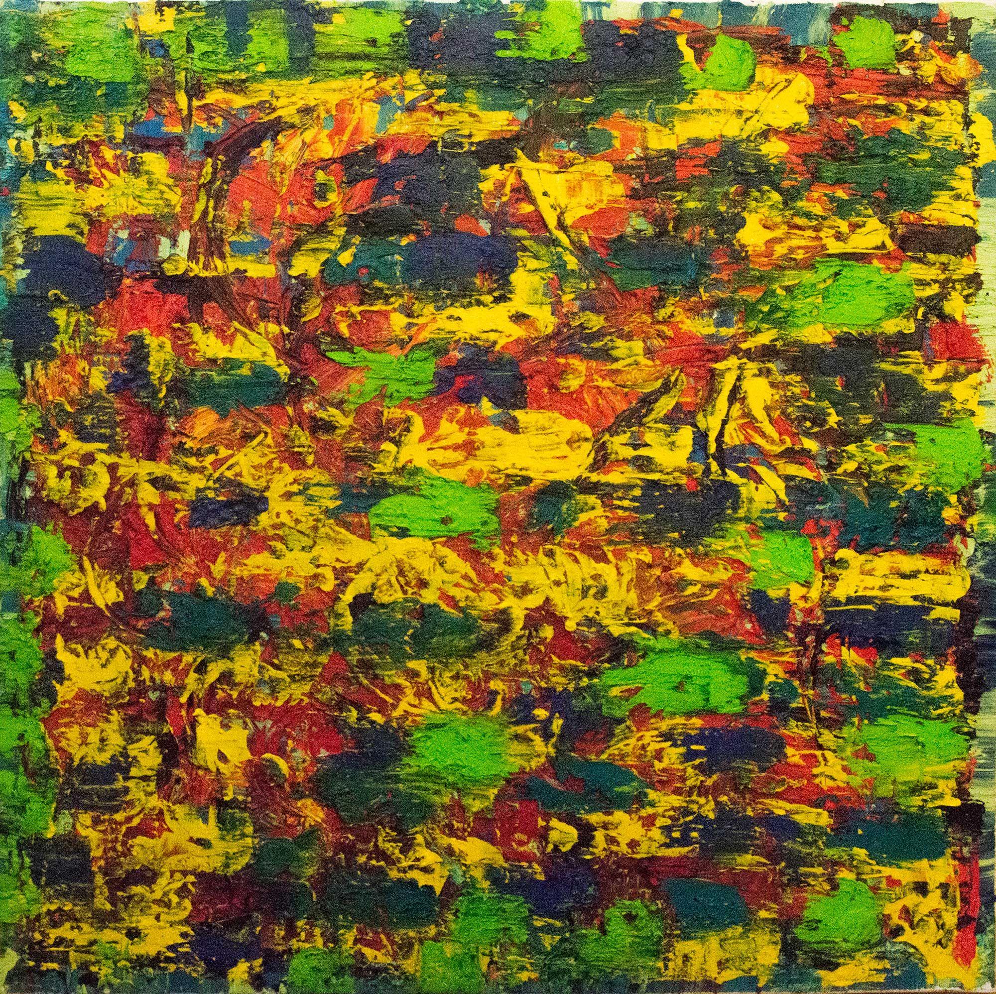 """Ana Perez Grassano """"L'Amour Partagé à Deux - I"""" Oil on canvas 80x80cm 2014"""