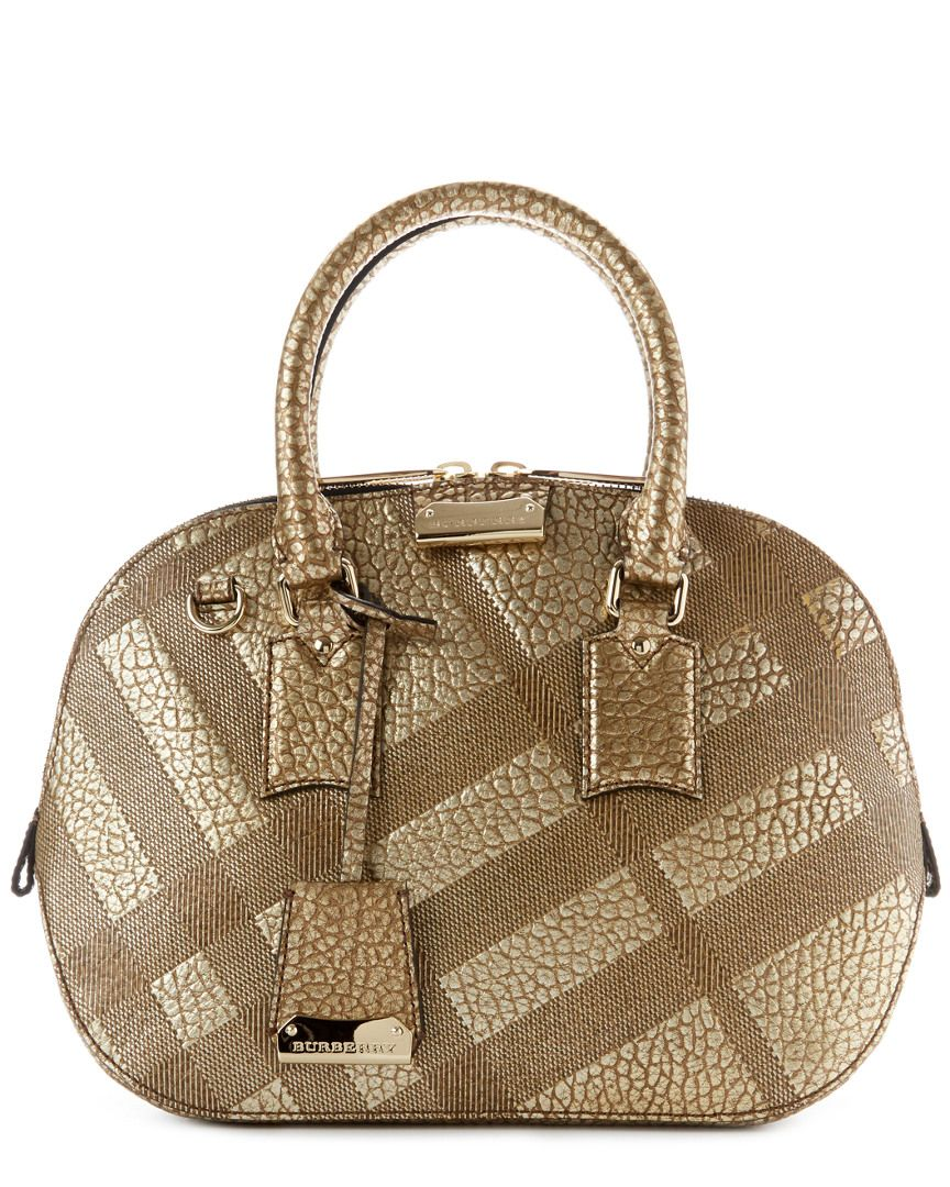 81e4a5a1457c Burberry Orchard Small Embossed Check Leather Satchel is on Rue. Shop it  now.