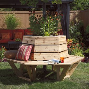 Hexagonal Cedar Bench Global Village Style (free Plans)