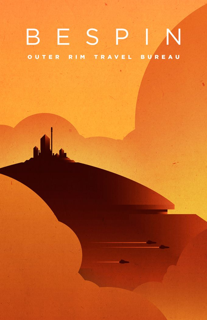 Star Wars location travel posters by KOMBOH