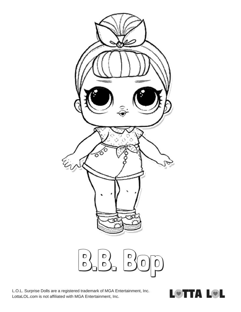 BB Bop Coloring Page Lotta LOL LOL Surprise Series 2