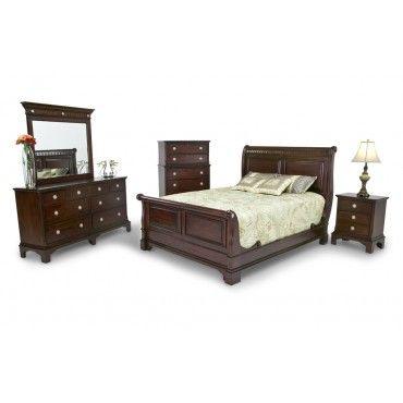 2500 Jamestown 8 Piece Set King Sleigh Bed 2 Night Tables