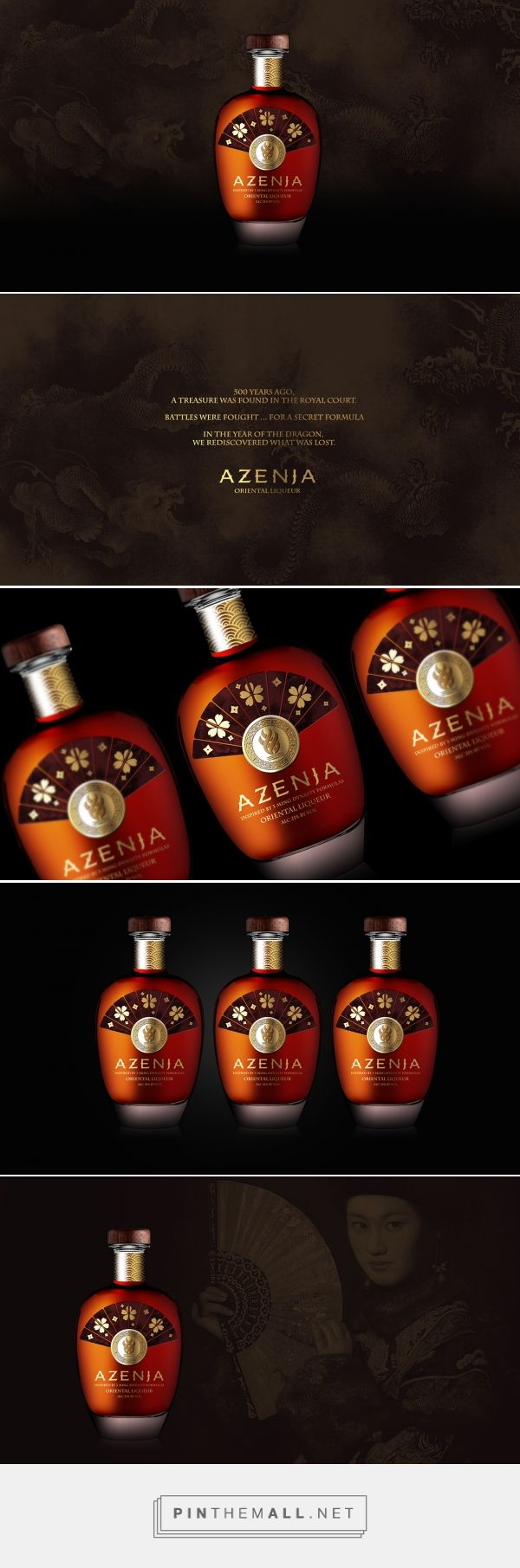 Interesting Bottle And Use Of Color Textures And Finishes Azenja Oriental Liqueur By Vladimir Jovanovic Liqueur Packaging Design Inspiration Wine Packaging