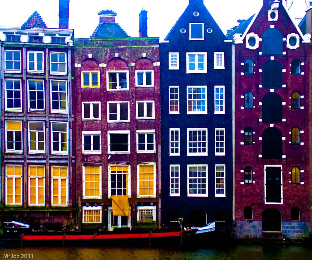 Amsterdam.... Like Colorado With More Water And Brighter, More Interesting  Architecture